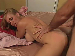 Insatiable blonde Brittany Andrews has a blast with a horny lover