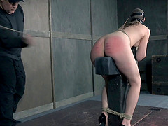 BDSM treatment for a babe with small tits craving to be tortured