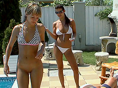 Outdoor banging of two ravishing and quite nasty sluts