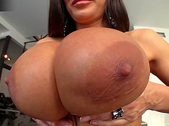 Hottie Lisa Ann in stockings always a fan of huge cocks