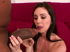 Brunette screwed with big black cock hardcore in interracial porn