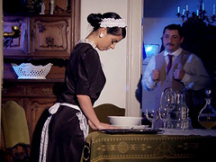 Naughty maid Jessyka Swan sucks a dick before an anal shag