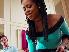 Attractive Kira Noir likes being plowed by her lover