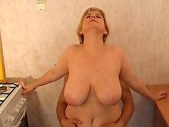 Hot ass mature Veronika riding cock hardcore in close up