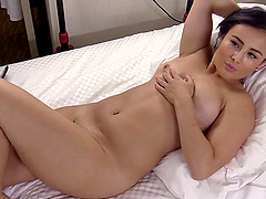 Dick craving brunette Golden cannot get enough of an erected dong