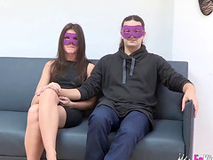 Ris Dar and another babe wearing masks and riding stiff cocks