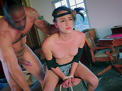 Alex Moore getting grabbed and pounded by her libidinous partner