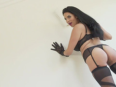 Stunning beauty Missy Martinez cannot resist a guy's fat prick