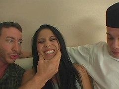 Jenaveve Jolie cannot get enough of a couple of fellows' dicks
