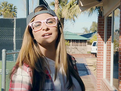 Nerdy blonde Nina North loves experimenting and perfecting her skills