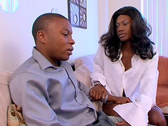 Persia is a chocolate slut who has sex with her new BF