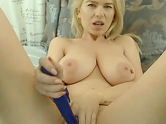 An stunning German blond with huge tits and what is more impressive