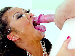 Dirty face fucking with a lot of spitting with Asian Lana Croft