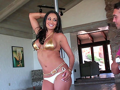 Wonderful missionary pussy drilling with sexy Claudia Valentine