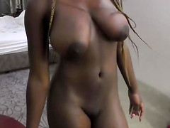 Desirable cutie playing with long boner