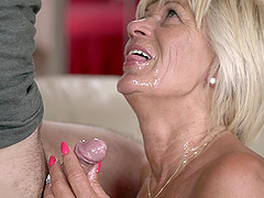 Mature Diane Sheperd finally gets to play with a delicious dick