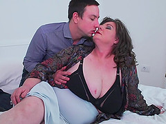 Mature busty BBW Jana gets her fat ass pounded from behind