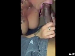 My tattooed wife Jenna made happy with a big fat black dick.