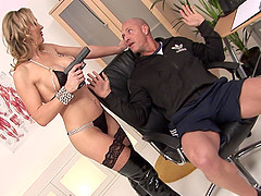 MILF Tanya Tate fucks one lucky guy and gets a facial