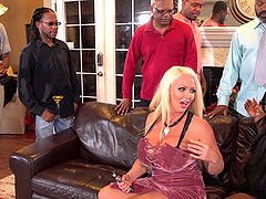 Interracial gangbang with lustful MILF Alura Jenson
