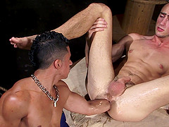 Hot fisting action with Byron Saint and Armond Rizzo