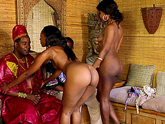 African group sex with Chanell Heart and Skyler Nicole