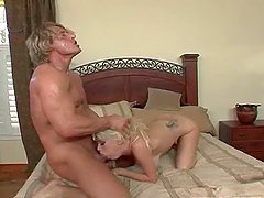Playful Kissy Kapri sucks a cock and gets fucked doggystyle