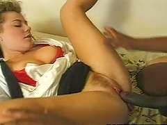 Two kinky sluts share a massive black dick in the bedroom