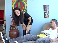 Horny cougar India Summer fucks her naughty BF