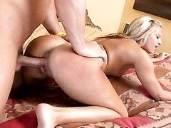 Hot Blonde Babe Gets Fucked On All Her Fours