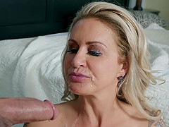 MILF slut Ryan Conner loves bouncing on a hard younger dick