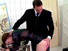 Rough spanking and missionary fuck session with Misha Cross