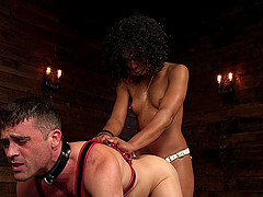 Misty Stone definitely knows how to use a strapon with a dude