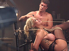 BDSM and a slave role is amazing experience with blonde Bridgette B