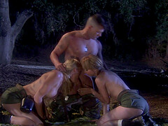Nothing is better for crazy girl Lexi Belle than a threesome in nature
