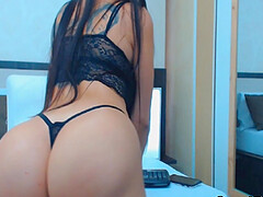 Hot beautiful sexy chick gets horny and wild while filming herself infront of her cam