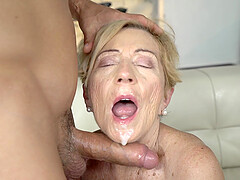 blonde milf Malya wants to show her fucking skills to her young friend