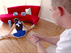 Gorgeous Cheerleader Teen Gets Fucked Hard By Tall Hunk