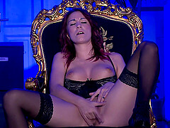 horny Natalie Hot masturbates using her fingers and a dirty mind