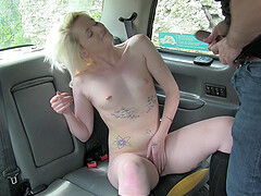 After blowing blonde Rochelle decides to fuck with a horny stranger
