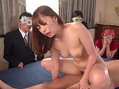 Japanese sex in front of audience JAV star Saki Hatsumi