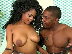 Black dude destroys wet pussy of Lala Camille with his long shaft