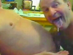 Blue boy and old man have fun and suck each other's dicks