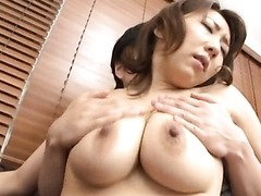 Playful Asian MILF Anna Hoshi Sucks and Tit Fucks a Cock