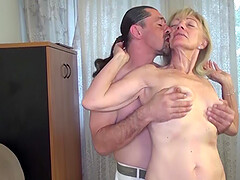 Crazy 82 years old mom rough boyfriend fucked