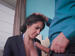 The boss fucked in the office busty secretary in ass