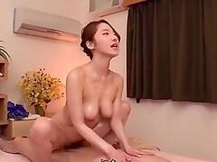 Japanese girl loves to do massage