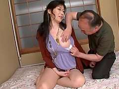 Mature wife Yuuko Sakurai with glasses enjoys having nice sex