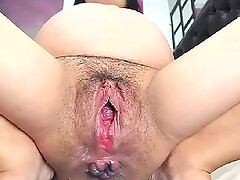 Pregnant lesbians pussy stretching