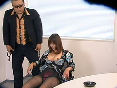 Sweet Asian chick Yuki undressed and fingered on a chair. HD